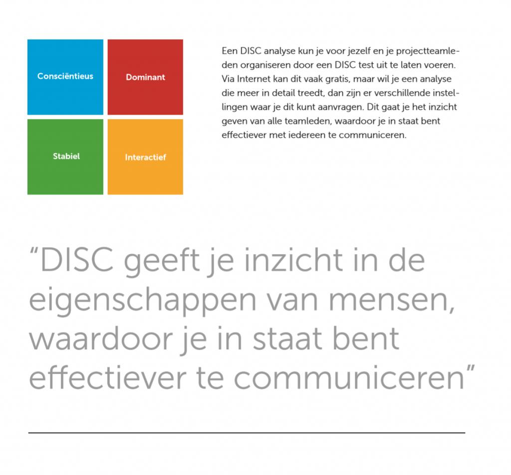 Projectmanagement - DISC