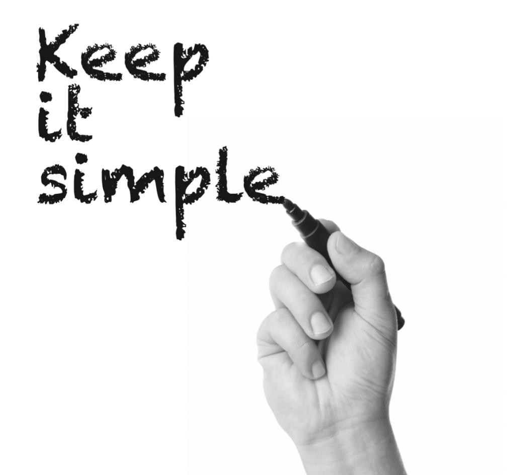 Projectmanagement - keep it simple